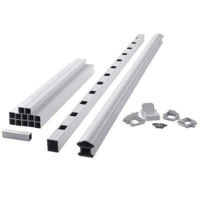 ArmorGuard Classic 72 in. White Composite Stair Rail Kit
