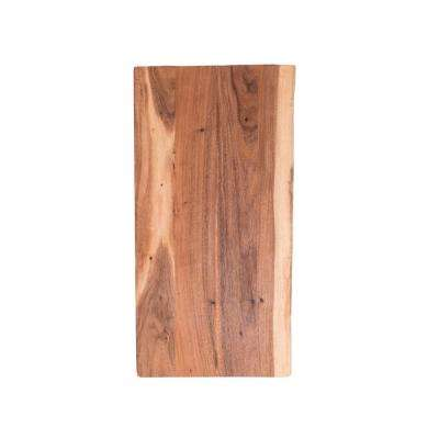 4 ft. L x 2 ft. 1 in. D x 1.5 in. T Butcher Block Countertop in Oiled Acacia with Live Edge