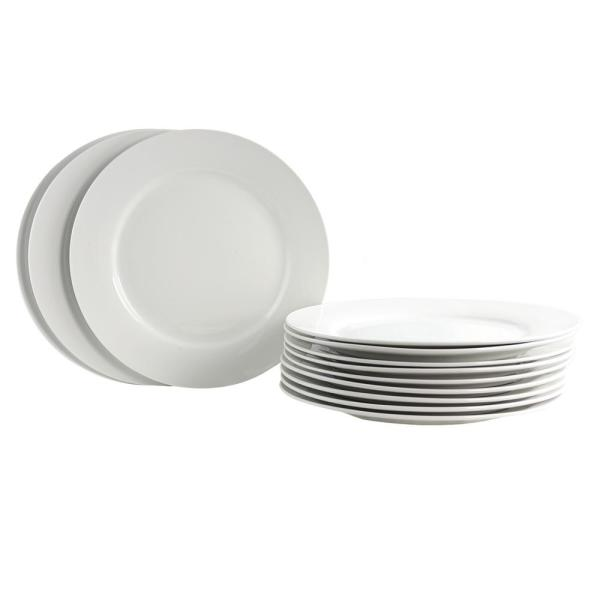 Gibson Home Noble Court White Dinner Plate Set Of 12 985105074m
