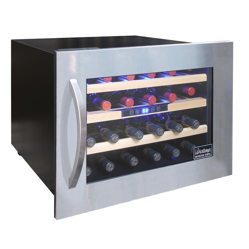 Vinotemp 24 Bottle Seamless Wall Mounted Wine Cooler