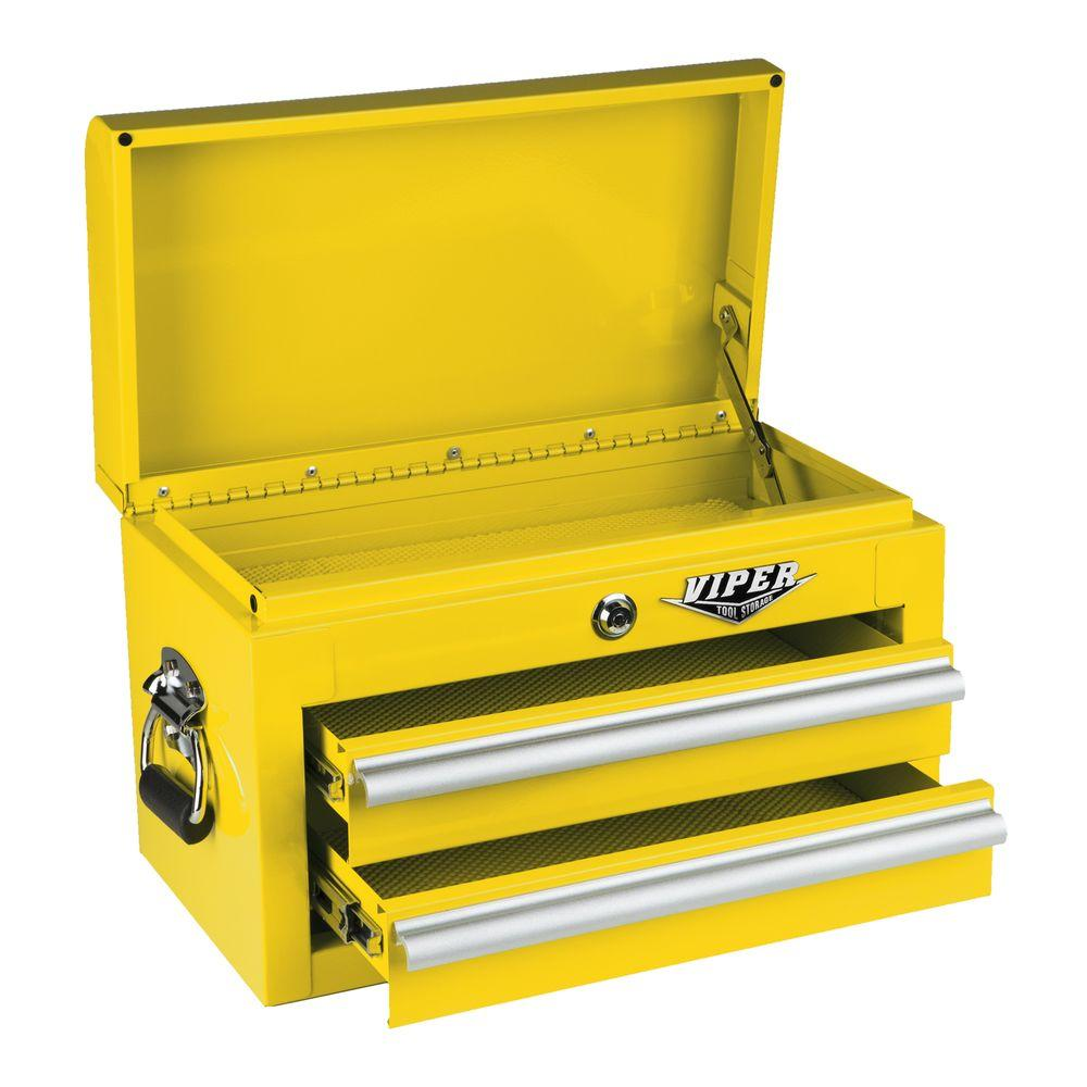 Viper Tool Storage 18 in. 2-Drawer Mini Chest in Yellow