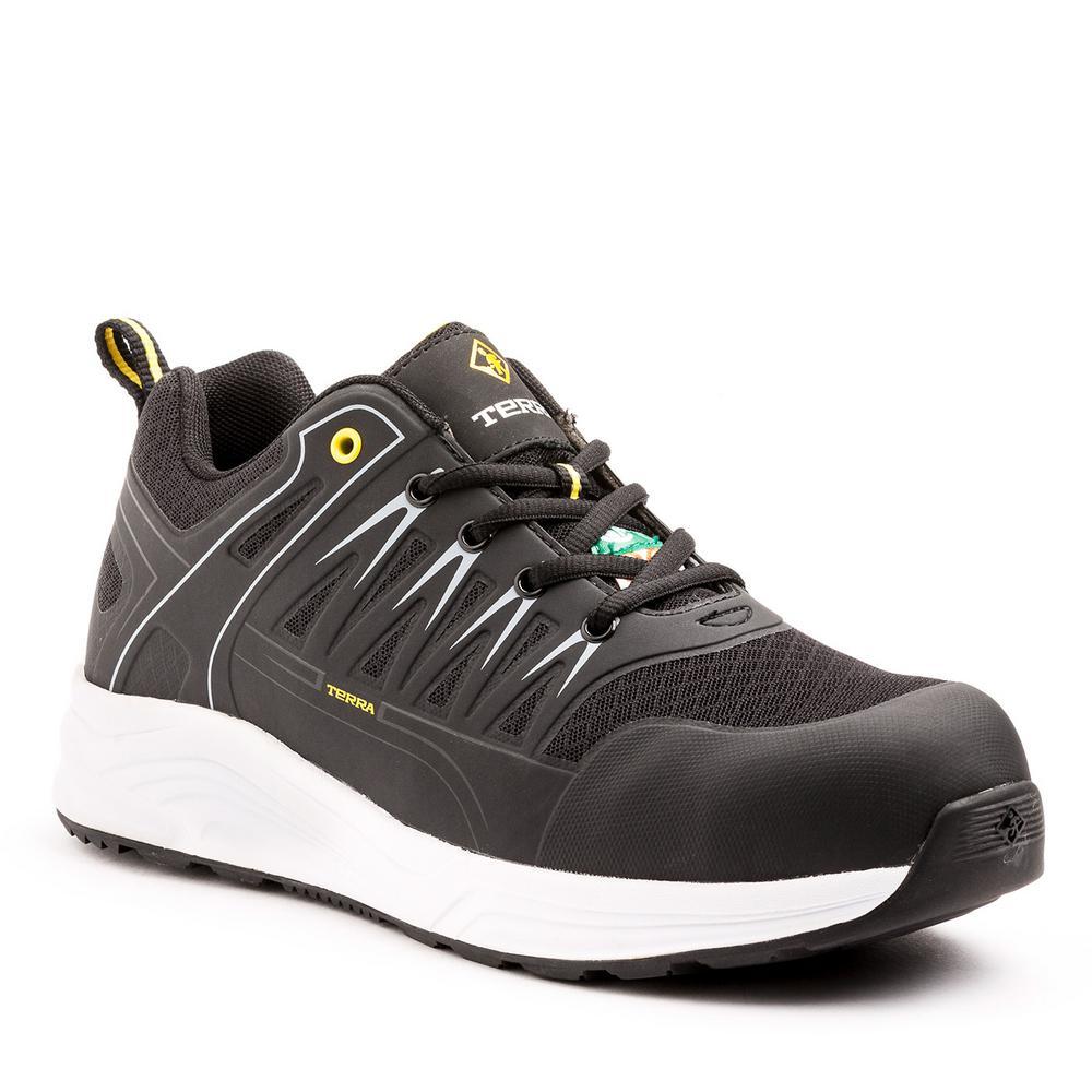 Rebound Men's Size 10 Black/White Safety Shoe