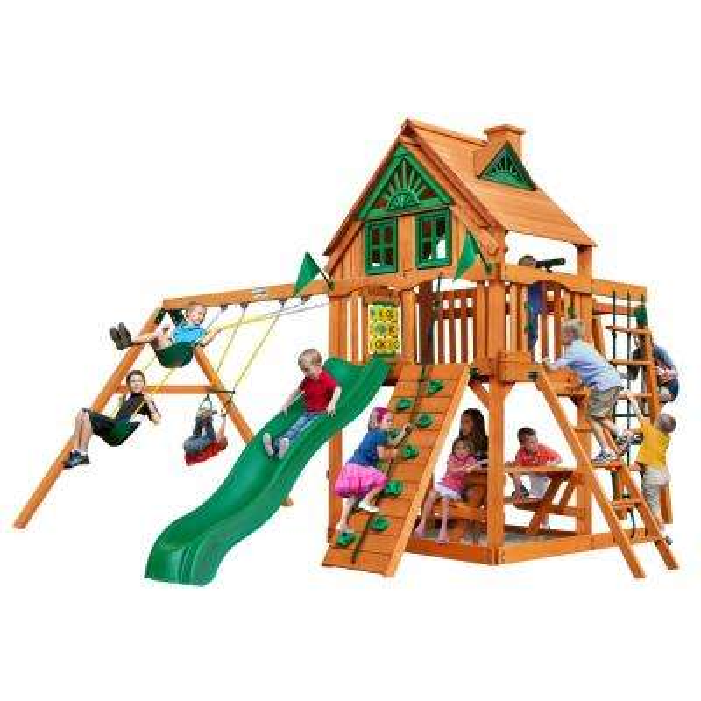 Navigator Treehouse Cedar Swing Set with Natural Cedar Posts