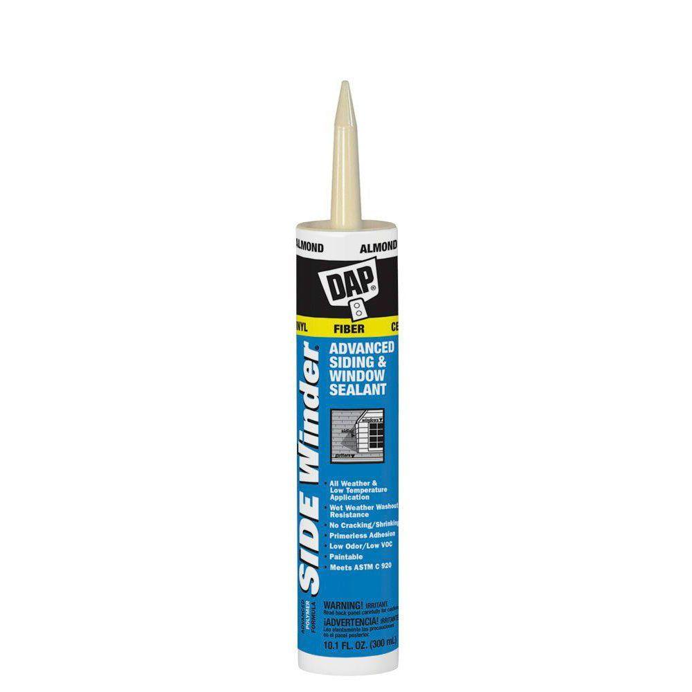 DAP Sidewinder 10.1 oz. Almond Advanced Polymer Siding and Window Sealant (12-Pack)