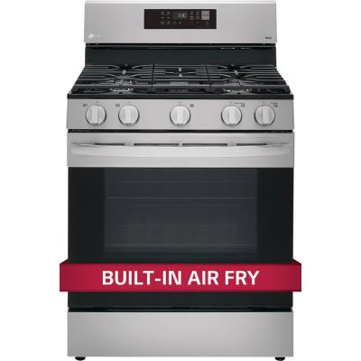 5.8 cu. ft. Smart Wi-Fi Enabled Fan Convection Gas Single Oven Range with AirFry and EasyClean in Stainless Steel