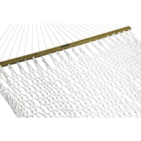 13 ft. Presidential Polyester Patio Rope Hammock in White