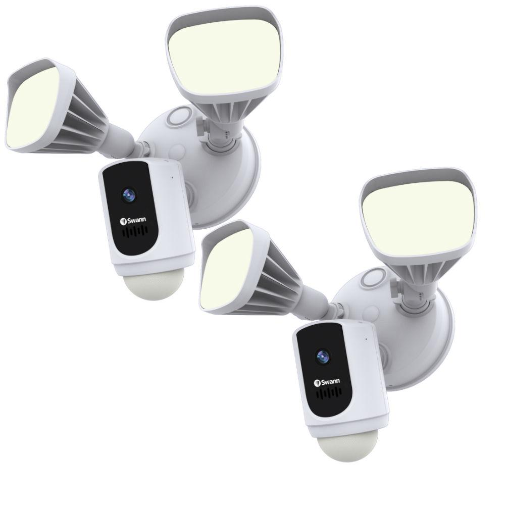 Swann Outdoor Wi-Fi Camera with Motion Activated Floodlight, White (2-Pack) was $349.99 now $239.99 (31.0% off)