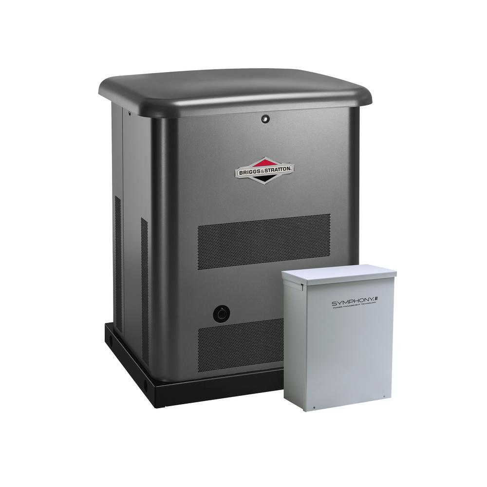 Briggs & Stratton 10,000-Watt Automatic Air Cooled Standby Generator with 100 Amp 16-Circuit Transfer Switch