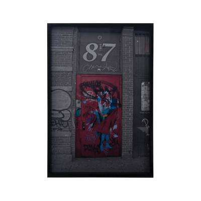 "37 in. x 25 in. ""Bowery I"" Framed Wall Art"