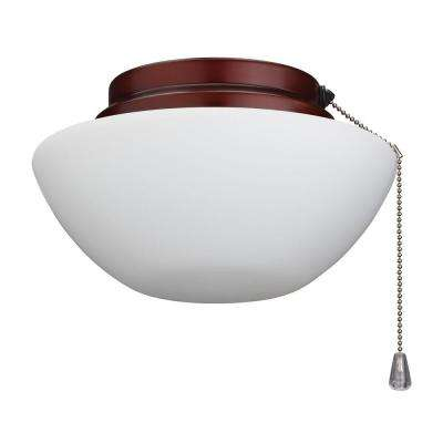 Outdoor Damp-Rated Ceiling Fan Light Kit with Weathered Bronze Trim