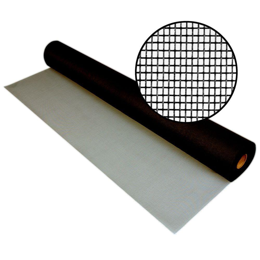 Phifer 84 in. x 50 ft. Charcoal Fiberglass Screen 18x14 Mesh