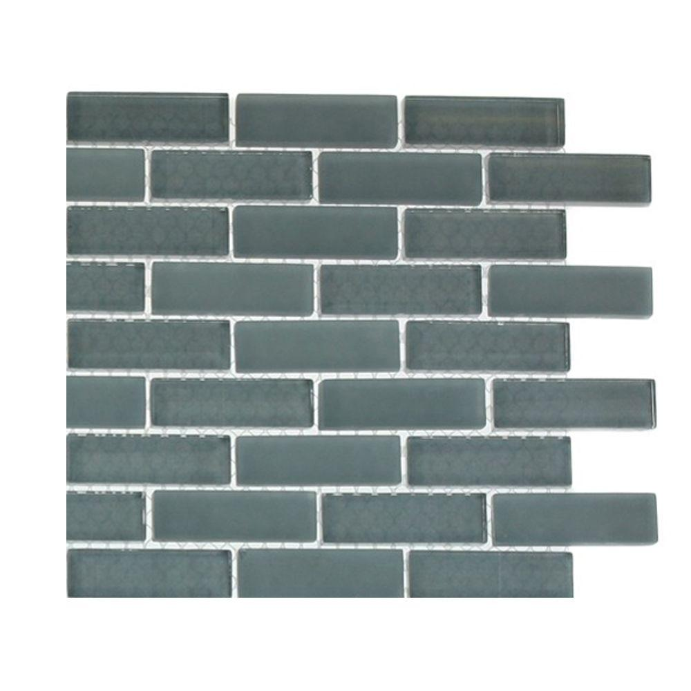 Tile Contempo Blue Gray Brick Pattern