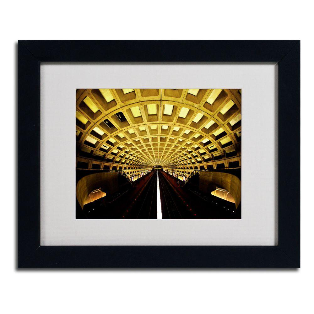 11 in. x 14 in. Lines Matted Framed Art