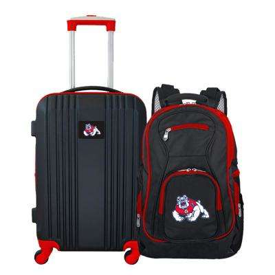 NCAA Fresno State Bulldogs 2-Piece Set Luggage and Backpack