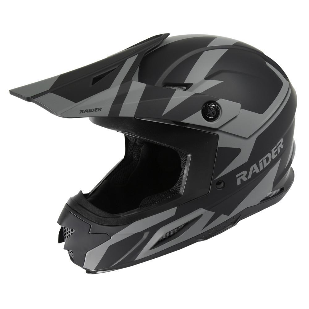 Lightweight Motorcycle Helmet >> Raider Z7 Mx 2x Large Black Silver Motorcycle Helmet