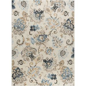 Tayse Rugs Winslow Cream 8 Ft X 10 Ft Area Rug Wns1217