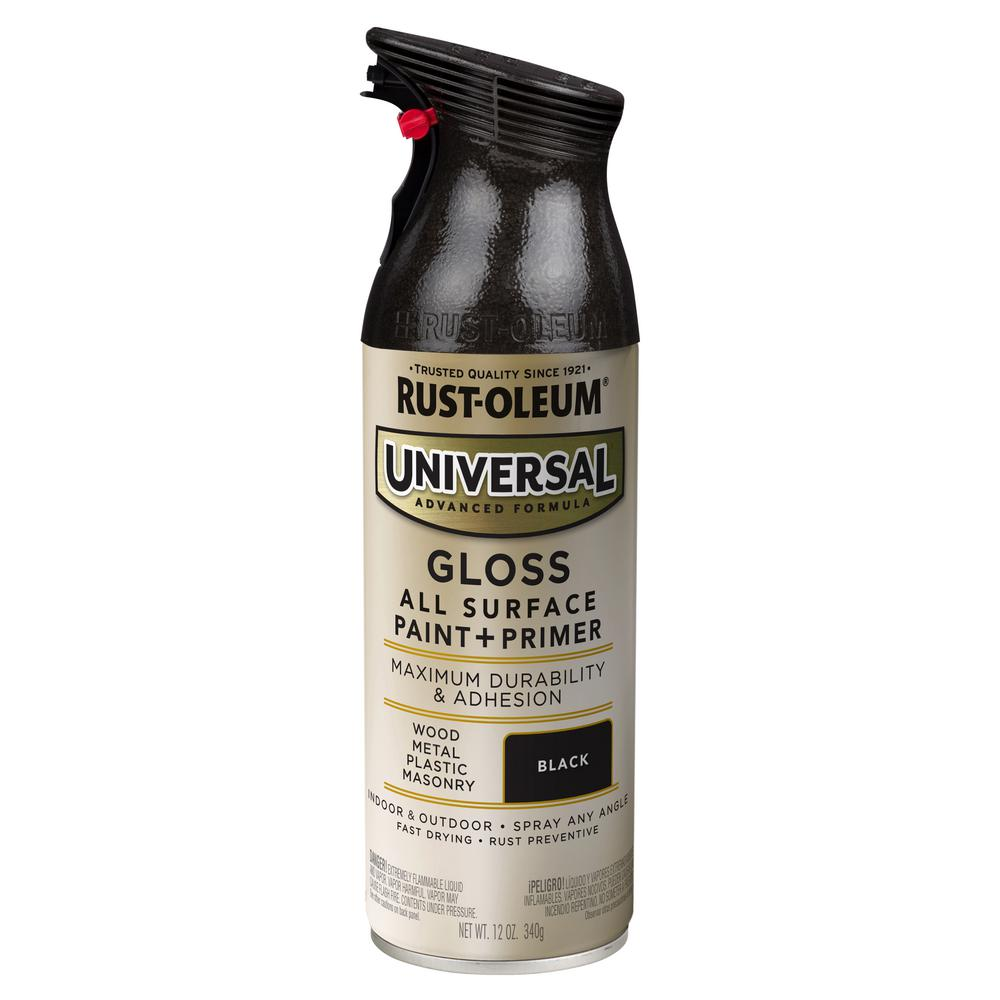 Rust-Oleum Universal 11 oz. All Surface Gloss Black Spray Paint and Primer in One (6-Pack)