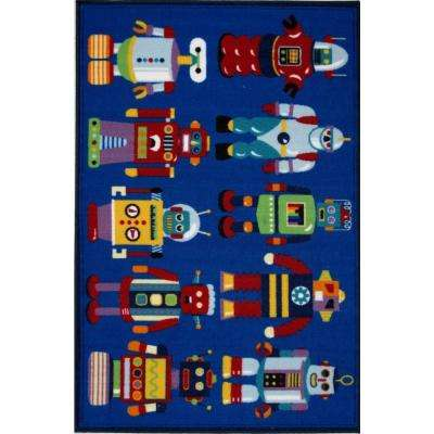 Olive Kids Go Robots Multi Colored 39 in. x 58 in. Area Rug