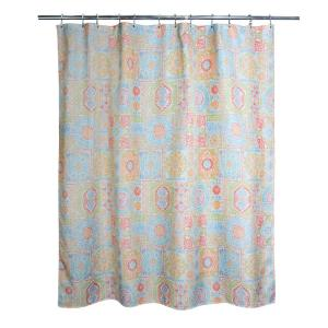 Vallhara 71 In Multi Color Fabric Shower Curtain 205086