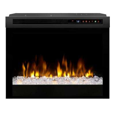 Multi-Fire XHD 23 in. Built-in Electric Fireplace Firebox with Acrylic Ember Bed in Black