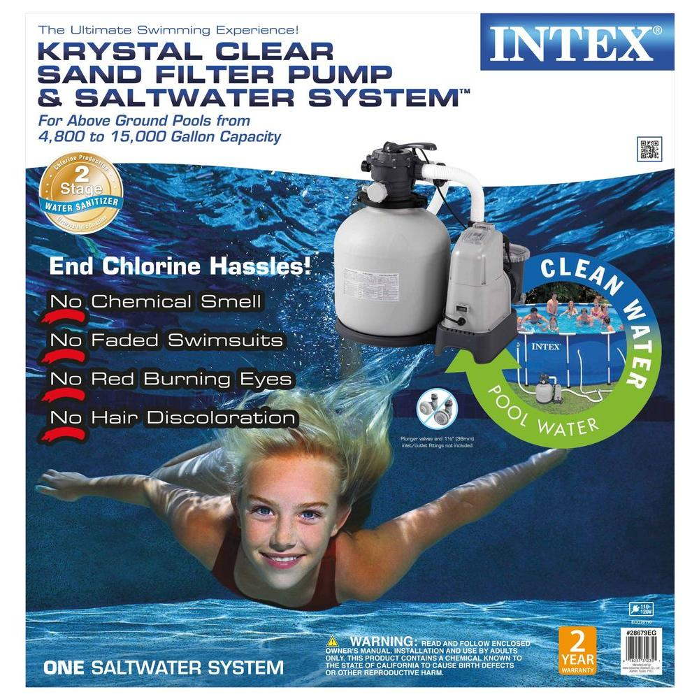 Intex 120 volt above ground sand filter pool pump and for Intex pool 120 hoch