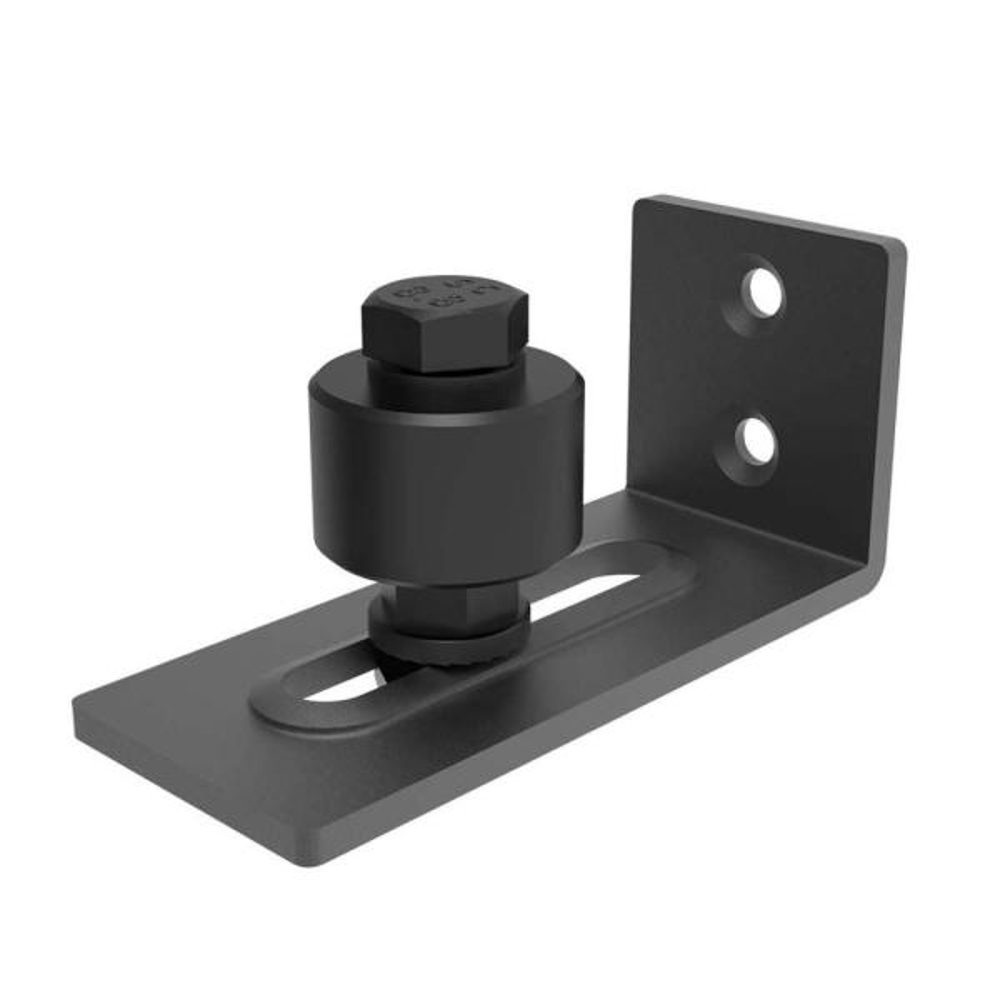 Flat Bottom Home Smooth Fixing Carbon Steel Heavy Duty Adjustable Sliding Barn Door Floor Guide Low Noise Hardware Easy Install
