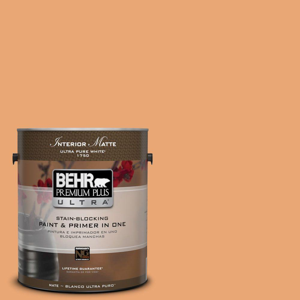1 gal. #M230-5 Sweet Curry Matte Interior Paint and Primer in