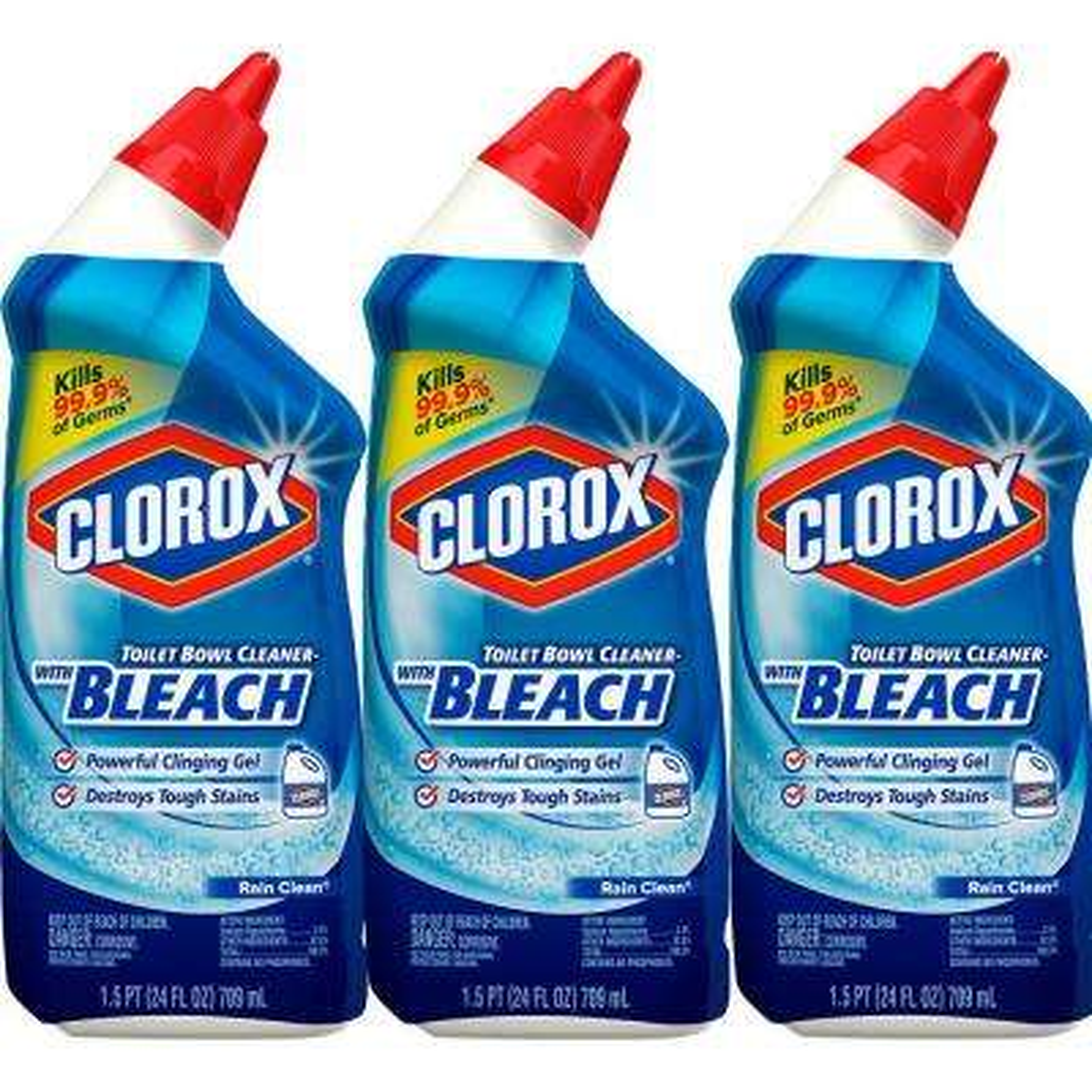 24 oz. Rain Clean Toilet Bowl Cleaner with Bleach (3-Pack)