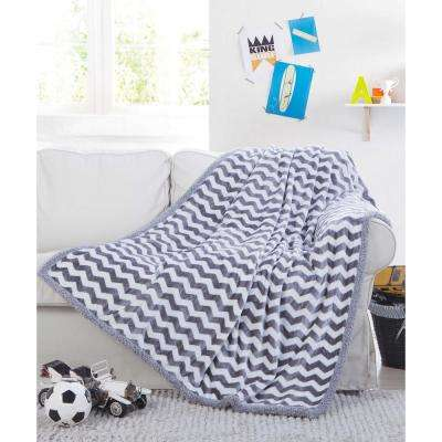 Fifi Grey Sherpa Throw