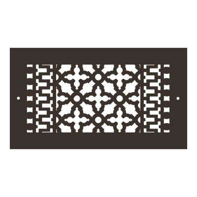 Scroll Series 12 in. x 6 in. Aluminum Grille, Oil Rubbed Bronze with Mounting Holes