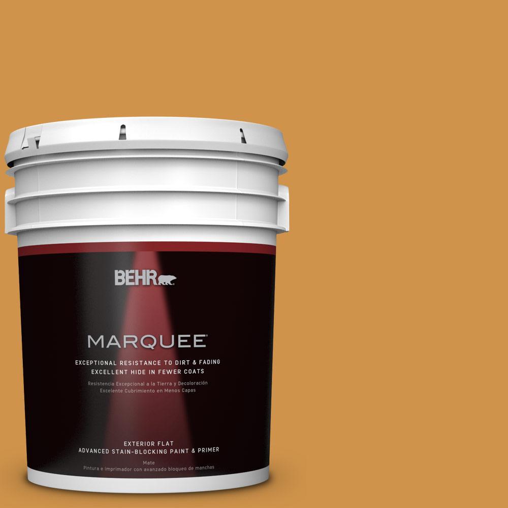 5-gal. #M260-6 Sweet Mustard Flat Exterior Paint