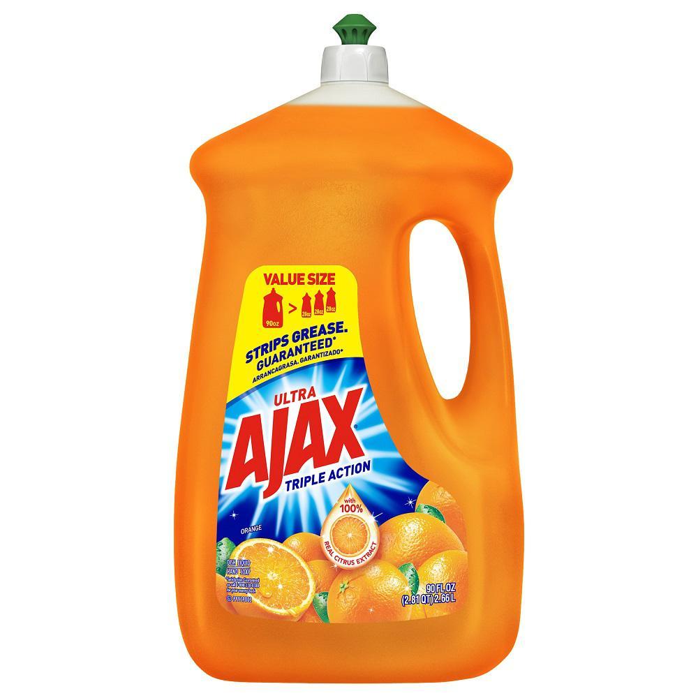 Ajax 90 oz. Triple Action Orange Liquid Dish Soap-49874 ...