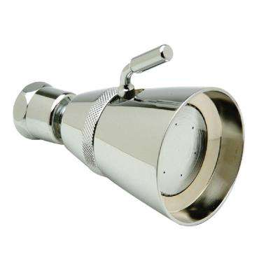 1-Spray 2.25 in. Adjustable Showerhead in Chrome