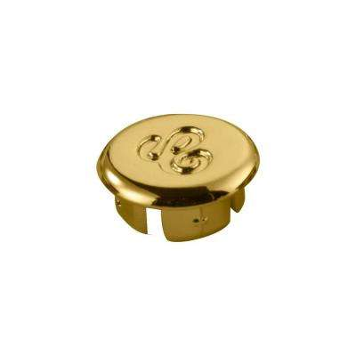 Faucet Index Cap, Polished Brass - Cold