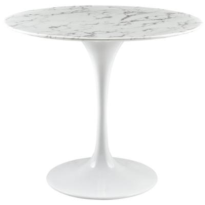36 in. Lippa in White Round Artificial Marble Dining Table