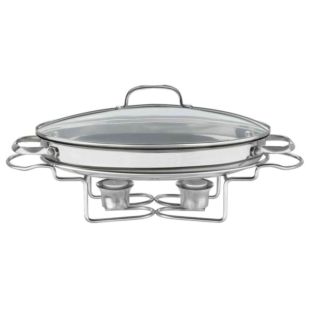 Cuisinart Classic Entertaining 13.5 in. (2.5 Qt.) Stainless Oval Buffet Server