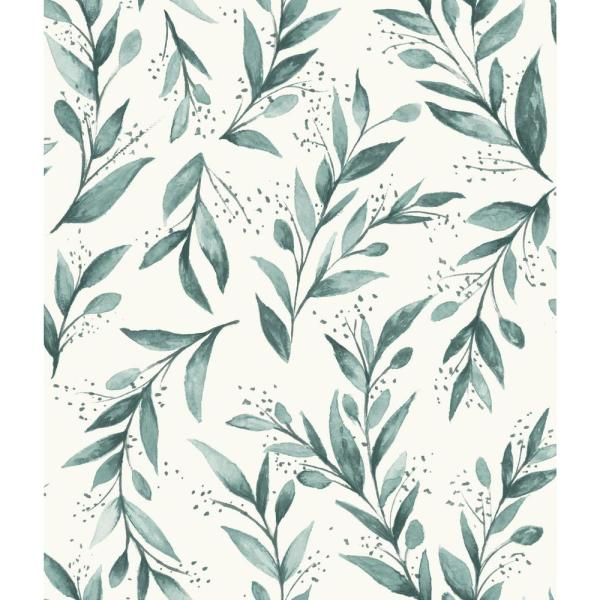Magnolia Home by Joanna Gaines 56 sq.ft. Olive Branch Wallpaper ME1536