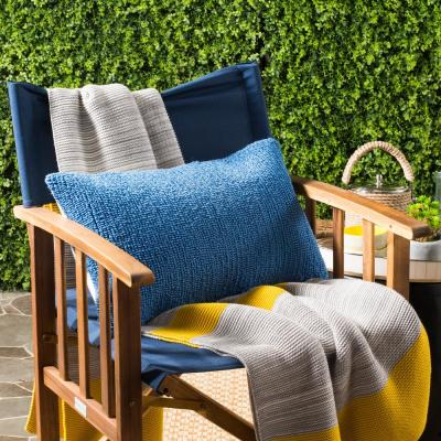 Soleil Solid Lumbar Outdoor Throw Pillow (Pack of 2)