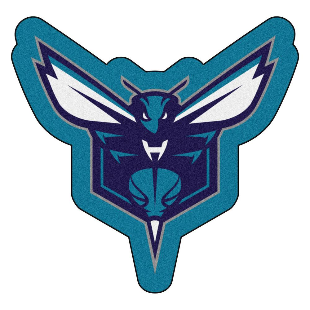 beee3a4b6 FANMATS NBA - Charlotte Hornets Mascot Mat 36 in. x 34.6 in. Indoor Area