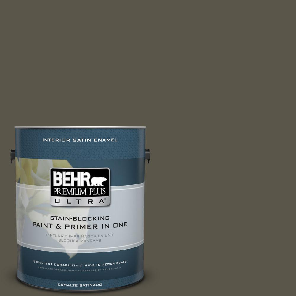 BEHR Premium Plus Ultra 1-gal. #780D-7 Wild Rice Satin Enamel Interior Paint