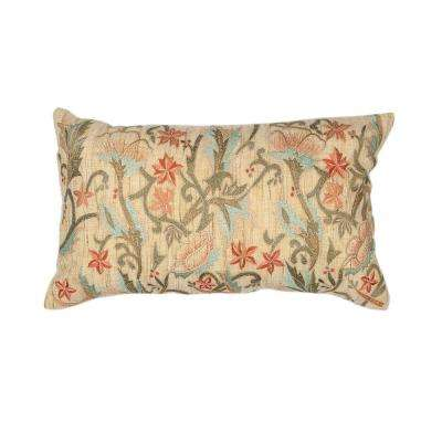 Spring Beige/Orange Decorative Pillow