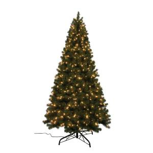 Home Accents Holiday 7 ft. Noble Fir Quick-Set Artificial ...