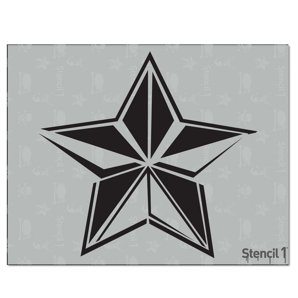 Star Wall Reusable Stencil Home Decor Craft Shapes Template Create Cuts