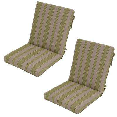 Luxe Stripe Outdoor Dining Chair Cushion (2-Pack)