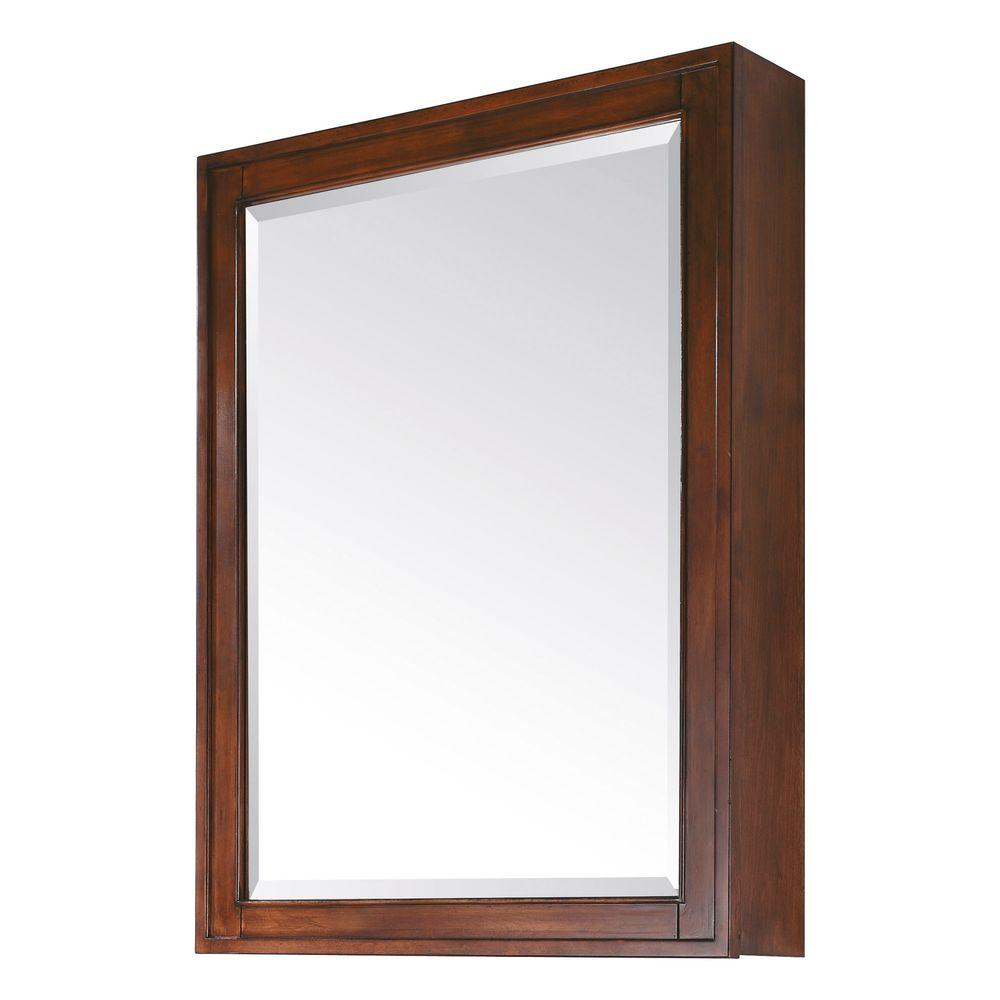 D Framed Surface Mount 3 Shelf Bathroom Medicine Cabinet In