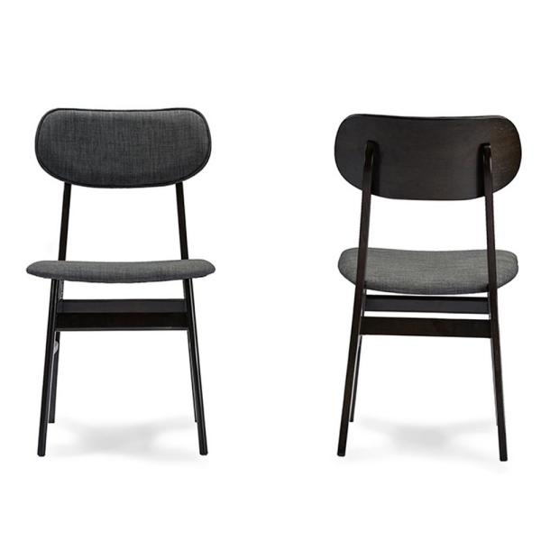 Debbie Gray Fabric Upholstered Dining Chairs (Set of 2)