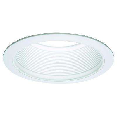 E26 Series 6 in. White Recessed Ceiling Light Tapered Baffle with White Trim Ring