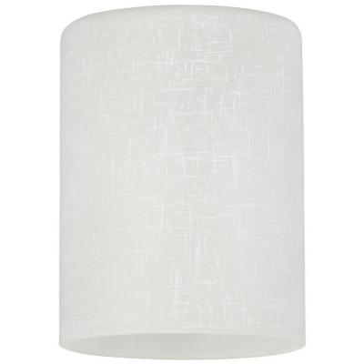 5-1/8 in. Hand-Blown White Linen Cylinder Shade with 2-1/4 in. Fitter and 3-15/16 in. Width