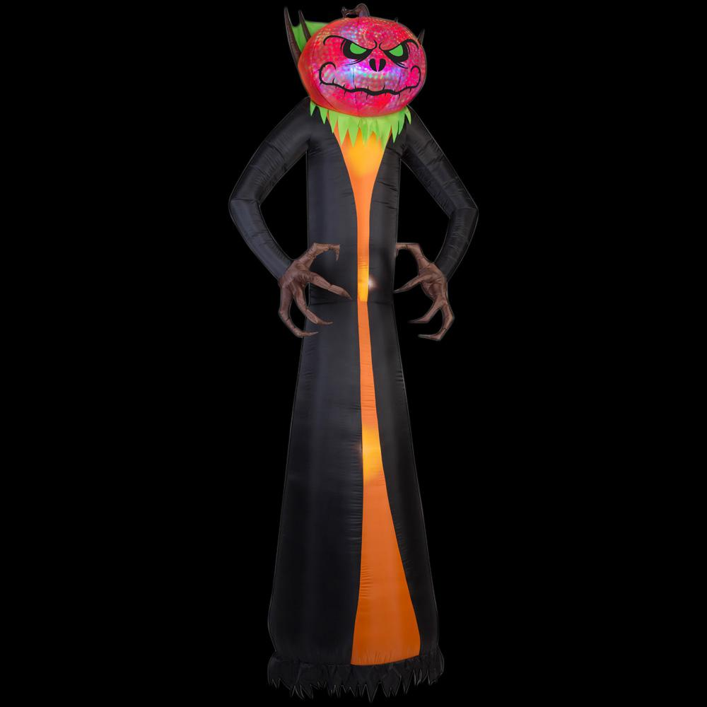 Home Accents Holiday 12 ft. Inflatable Projection Phantasm Pumpkin Reaper Giant (RGB)
