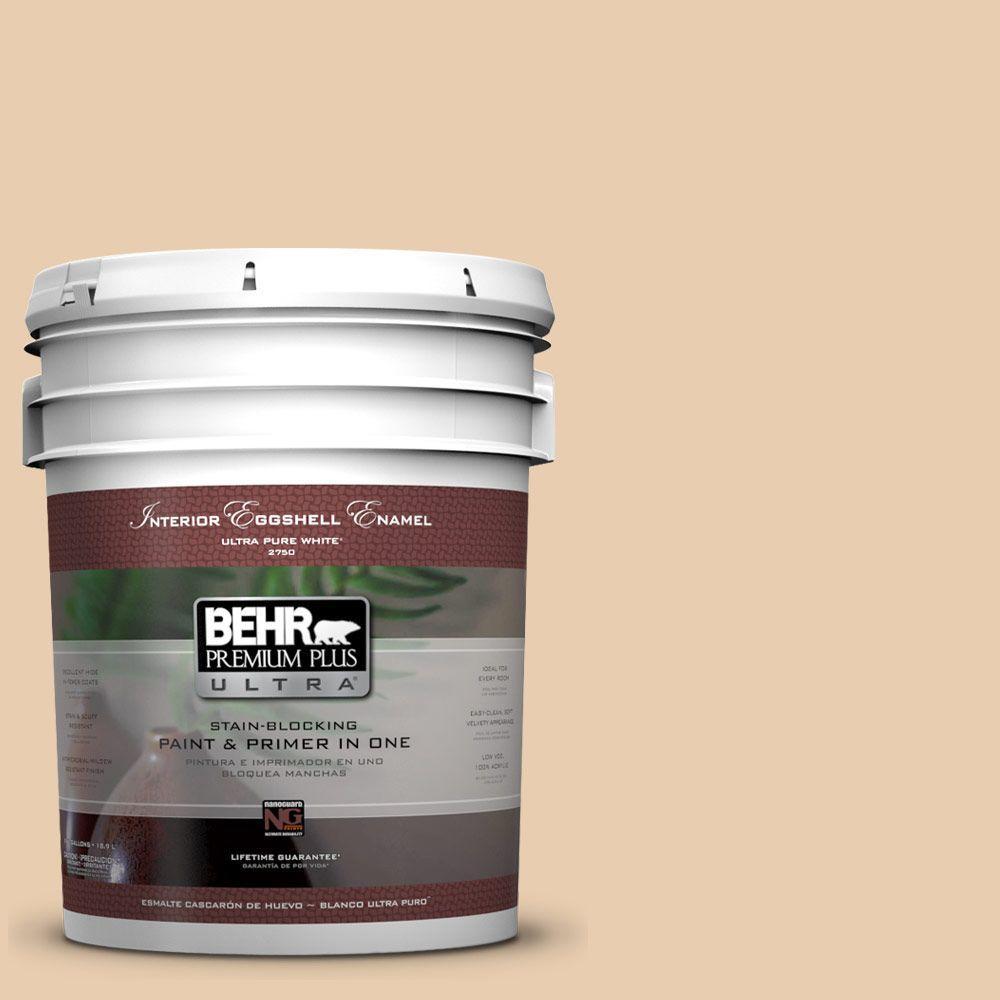 BEHR Premium Plus Ultra 5-gal. #BXC-64 Shortbread Cookie Eggshell Enamel Interior Paint